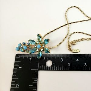 Jewelry - Vintage 3 Tone Light Blue Rhinestone Necklace